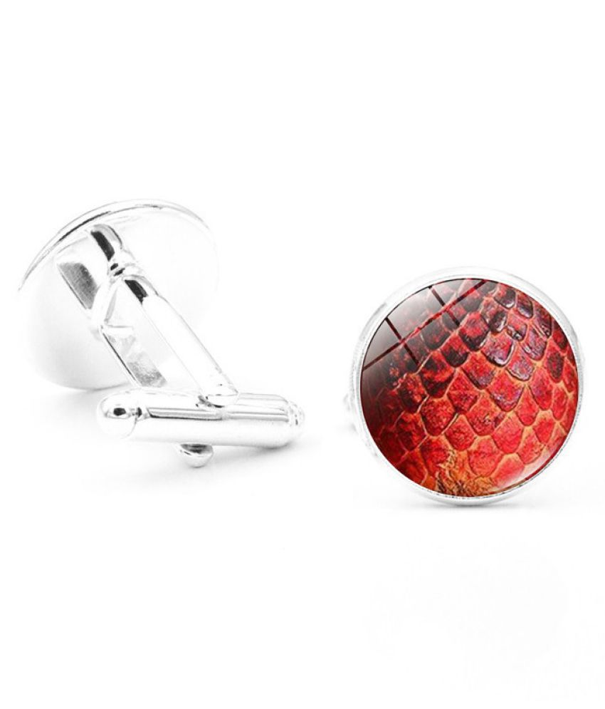 Kamalife Fashion Multi Color Alloy Letter Gem Cufflinks&Buttons Jewellery Accessories Gift