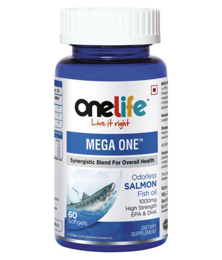 OneLife MEGA ONE : fish oil 1000 mg Softgel 60 mg