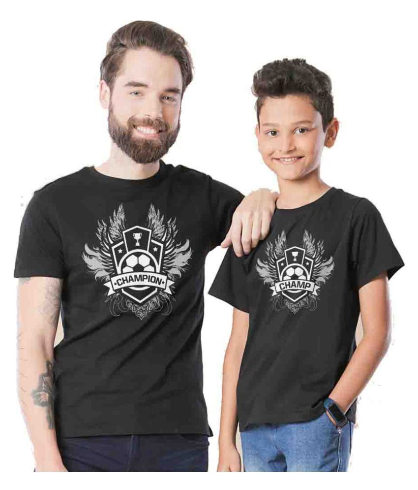 4606950aa BonOrganik Black Champion Father Son Best Family Matching Father and Son  Tees-Dad and Son Combo Tshirts - Buy BonOrganik Black Champion Father Son  Best ...