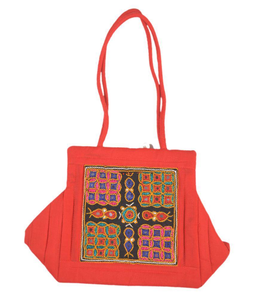 kutch ethnic handbag Multi Satin Sling Bag