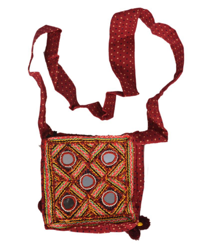 kutch ethnic handbag Multi Cotton Shoulder Bag