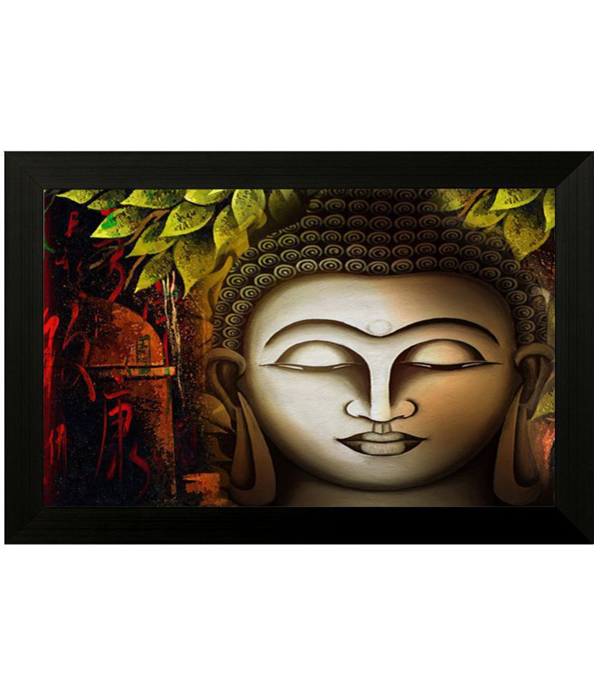 Style as Fashion Buddha Painting MDF Painting With Frame