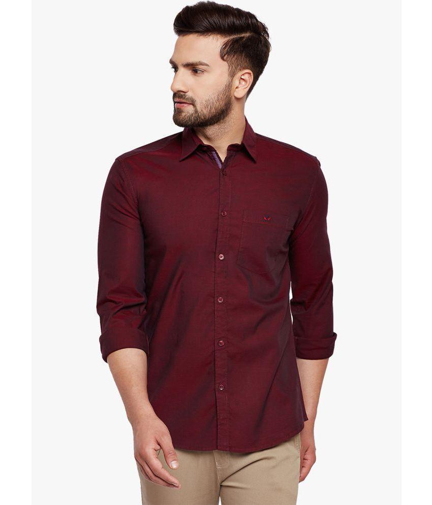 Crimsoune Club Maroon Slim Fit Shirt