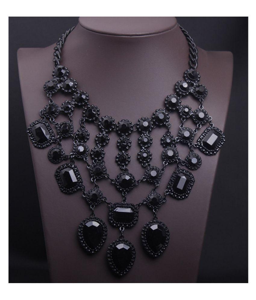 Kamalife Fashion Tassel Gem Necklace Accessories