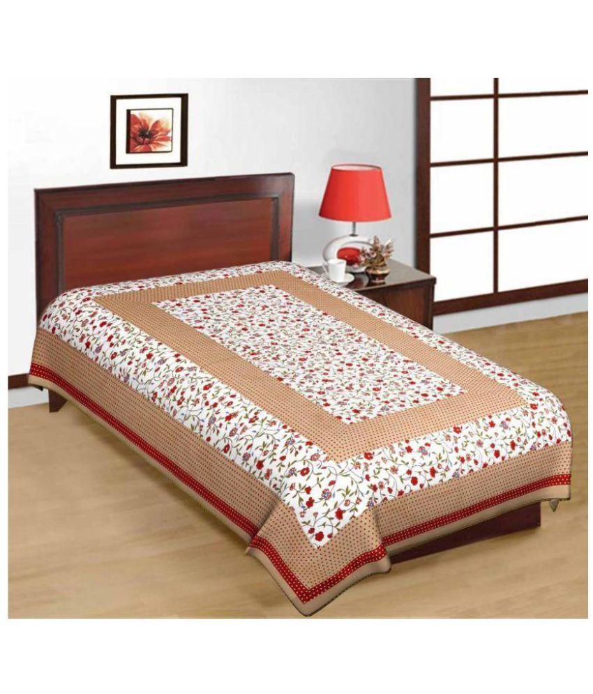 PRATAP CREATIONS Cotton Single Bedsheet