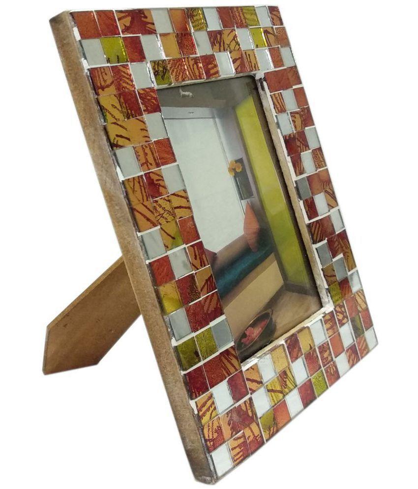 UNI DECORS Resin Multicolour Single Photo Frame - Pack of 1