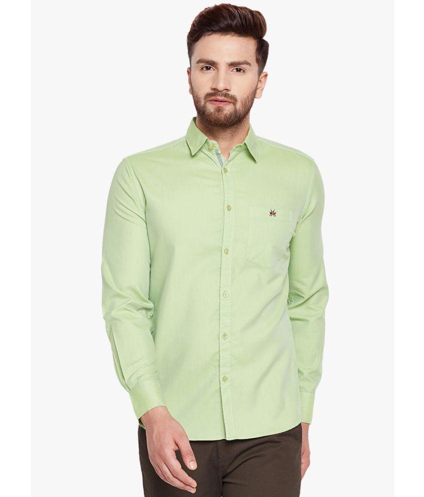 Crimsoune Club Green Slim Fit Shirt