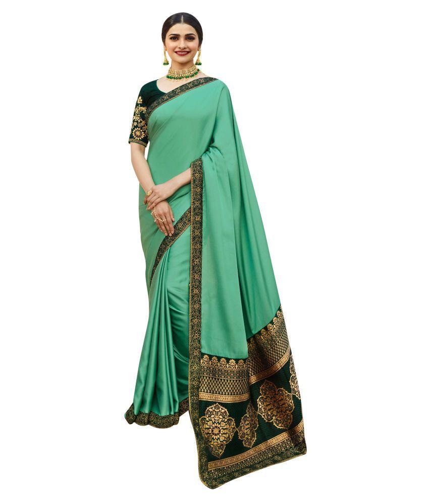 Mahalaxmi Fashion Green Silk Saree