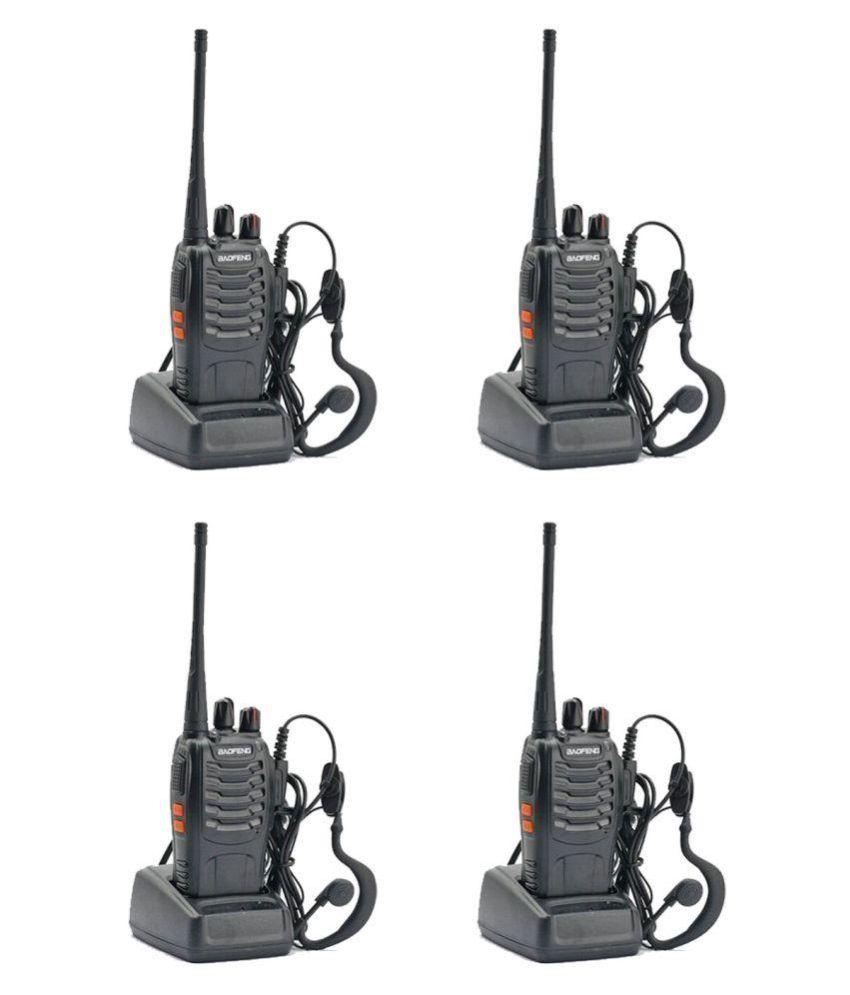 Baofeng BF-888S UHF 400-470MHz CTCSS/DCS With Earpiece Handheld Amateur Radio Walkie Talkie Two Way Radio Long Range (Black, 4 Pack)