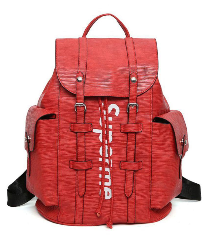 85a807f3 SUPREME Red Backpack - Buy SUPREME Red Backpack Online at Low Price -  Snapdeal