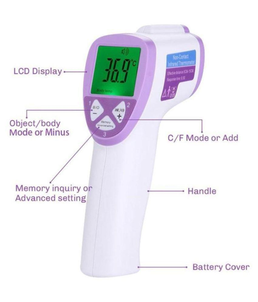 Digital Thermometer LCD Infrared Thermometer Digital Temperature Meter Hard
