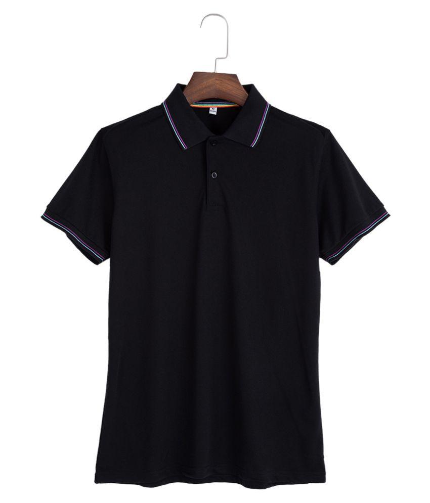 Whitleys Black High Neck T-Shirt