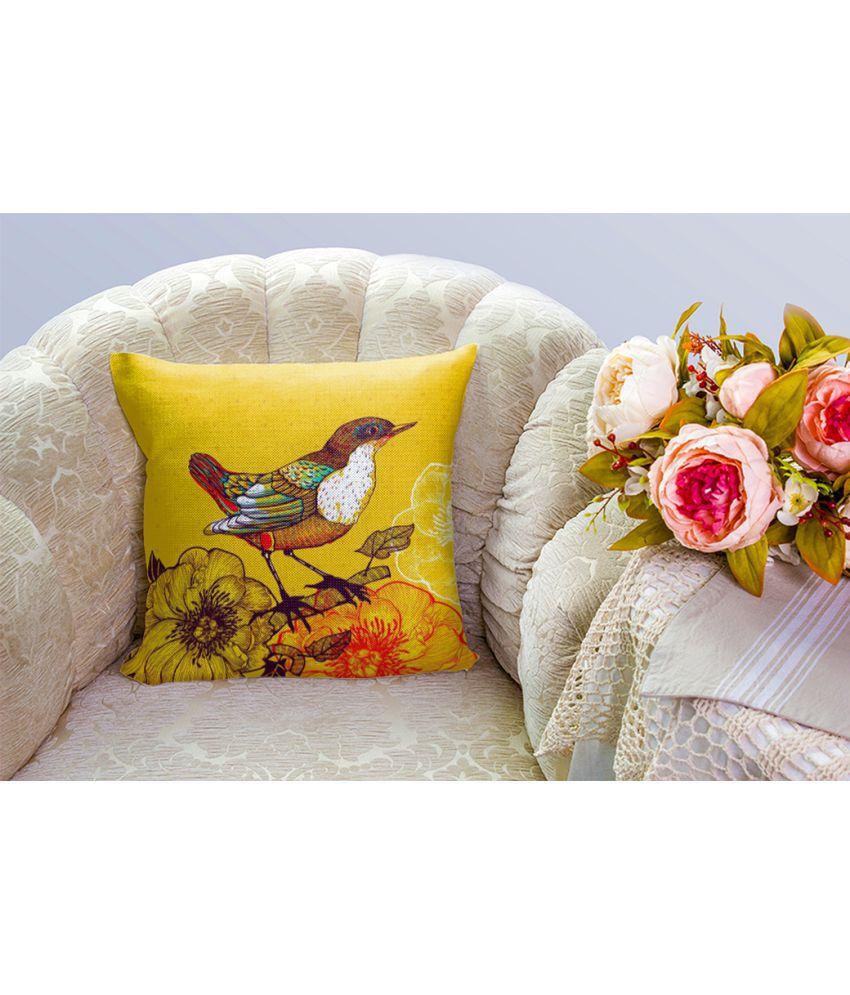 Mukesh Handicrafts Single Jute Cushion Covers 40X40 cm (16X16)