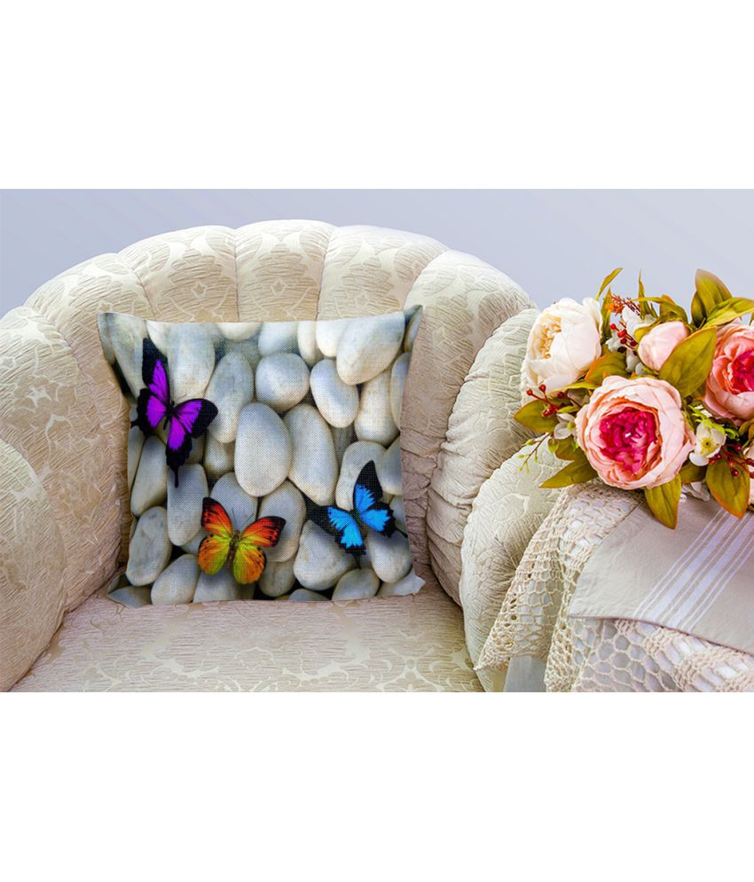 Mukesh Handicrafts Single Jute Cushion Covers 60X60 cm (24 X 24)