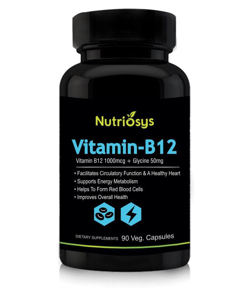 Nutriosys Vitamin B12,90 Tablets 1000 mg ...