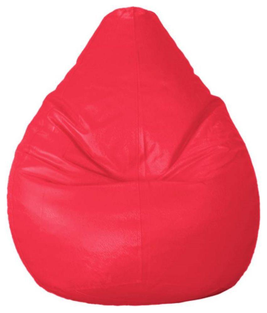 Madaar Homez Artificial Leather Pink Teardrop Bean