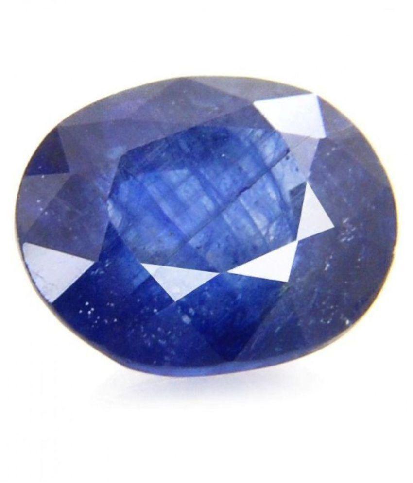 Gems Jewels Online 6.12 -Ratti IGL&I Blue Blue Sapphire (Neelam) Precious Gemstone