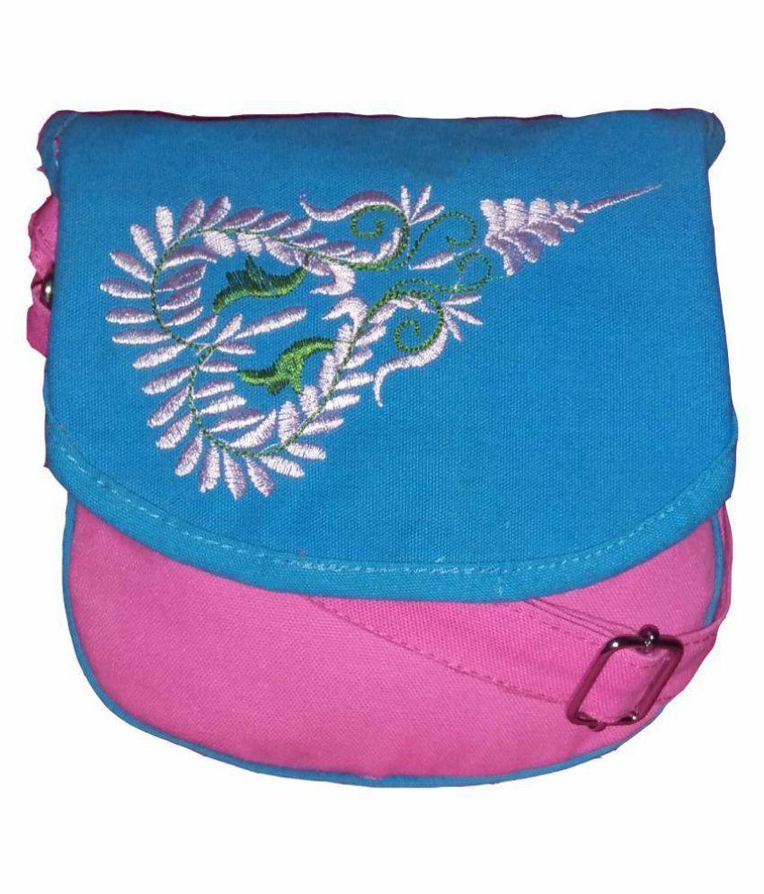 Fly Angels Pink Canvas Shoulder Bag