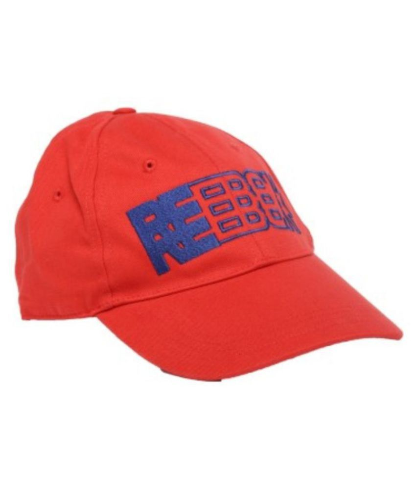 Reebok Red Embroidered Polyester Caps