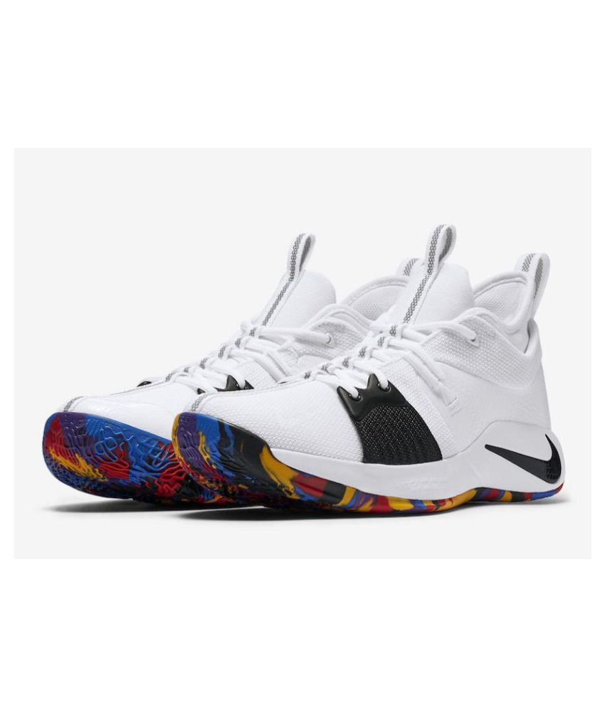 cae1808dac6c Nike PG 2 PAUL GEORGE White Basketball Shoes - Buy Nike PG 2 PAUL GEORGE  White Basketball Shoes Online at Best Prices in India on Snapdeal