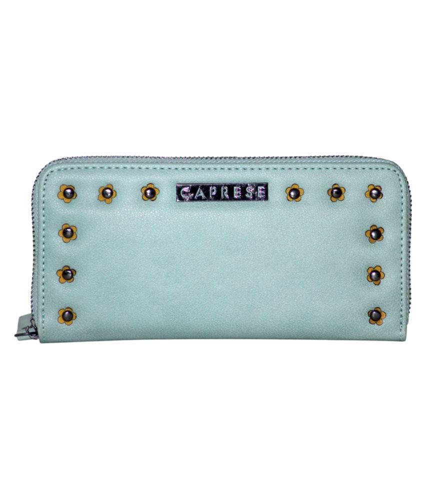Caprese Blue Faux Leather Wristlet