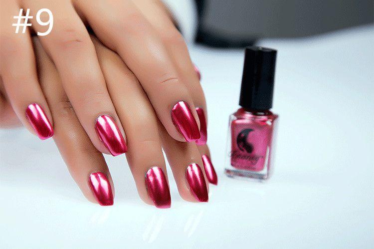 Miss Rose Nail Polish #9 As Picure Metallic 30g gm
