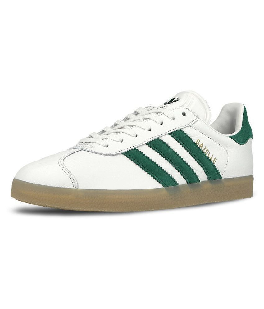 86b3f0ff3ca Adidas Gazelle Sneakers White Casual Shoes - Buy Adidas Gazelle Sneakers  White Casual Shoes Online at Best Prices in India on Snapdeal