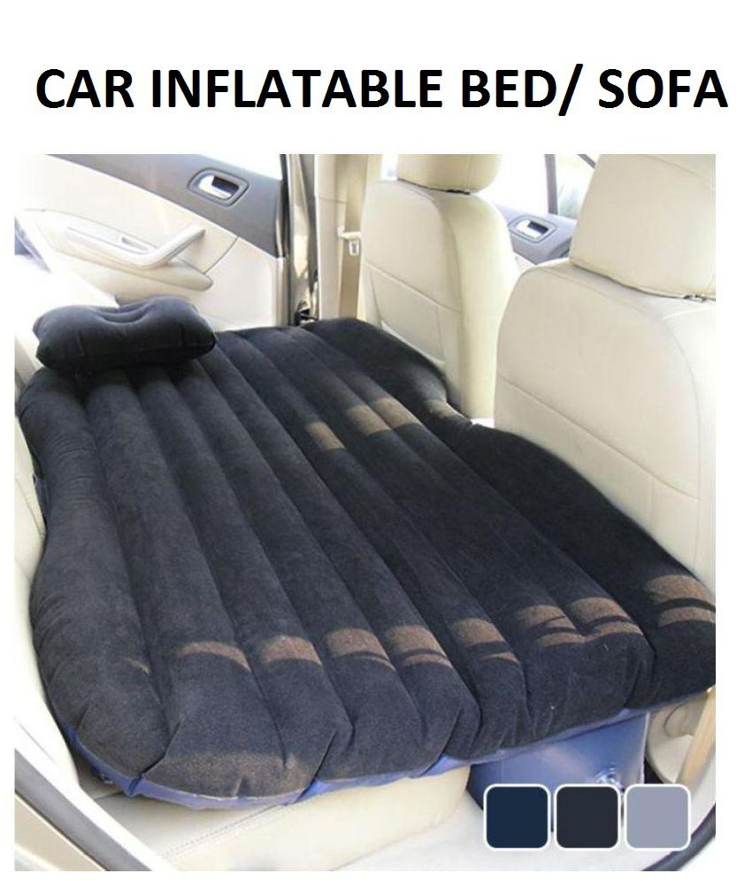 Car Inflatable Bed, Self-drive Travel Inflatable Air Bed Car Air Mattress Back Seat Camping with Pump