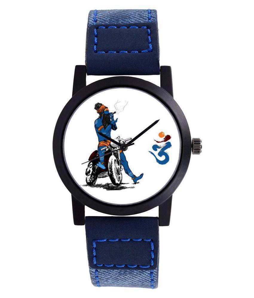 c9e10407a Smart Watch World mahadev watch 0015 Leather Analog