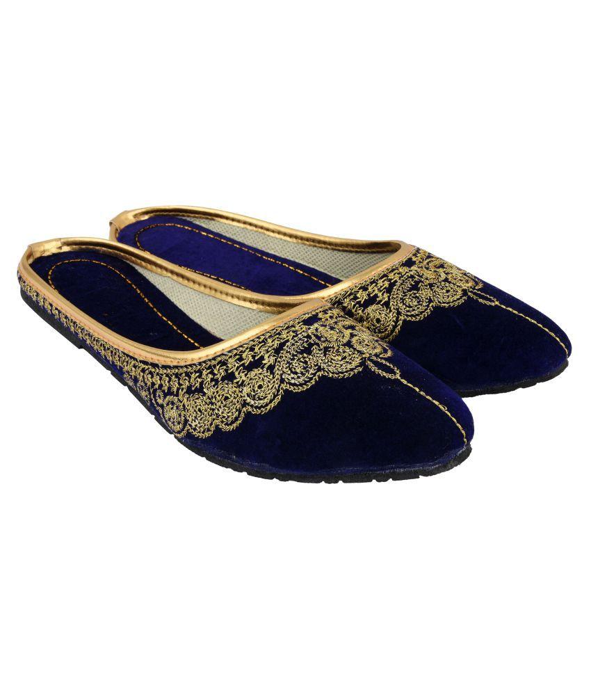 Mochdi Purple Ethnic Footwear
