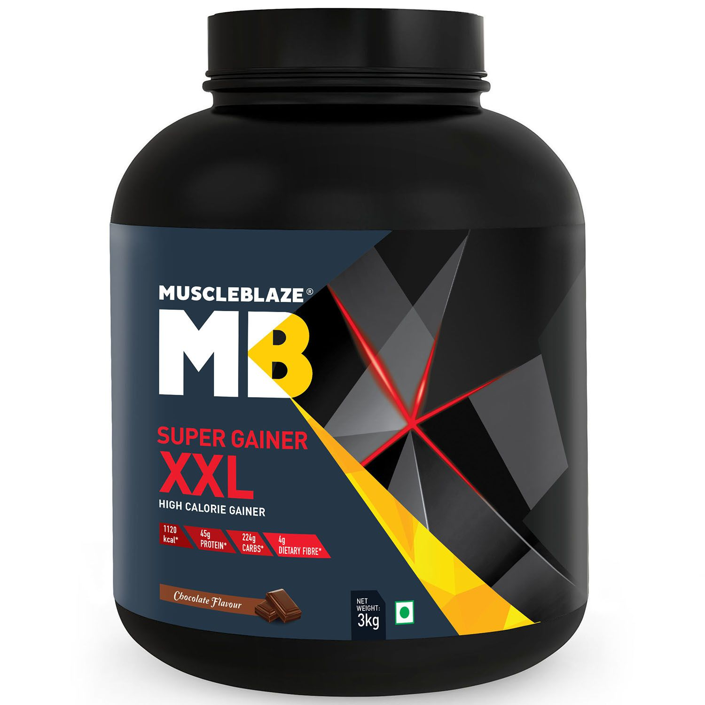 MuscleBlaze Super Gainer XXL 3 kg Chocolate Mass Gainer Powder