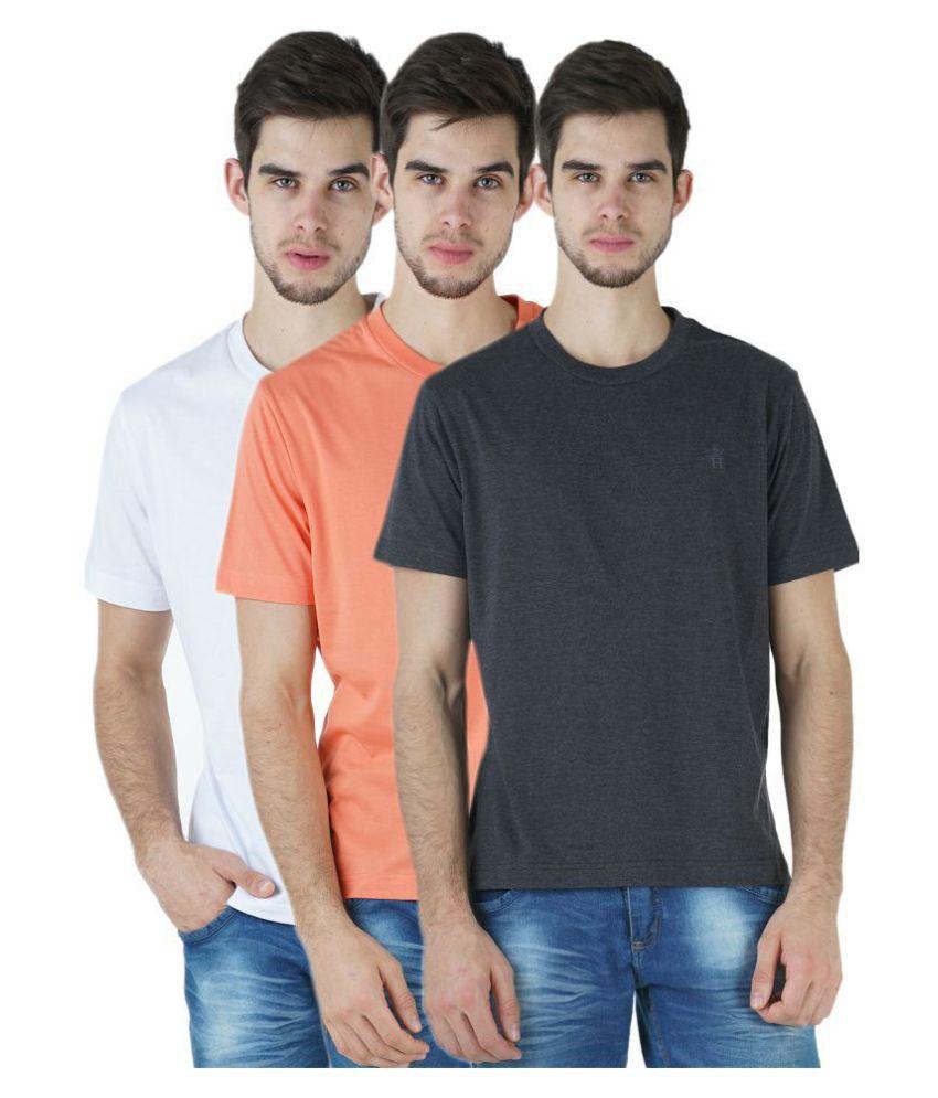 HUMBERT Multi Half Sleeve T-Shirt Pack of 3