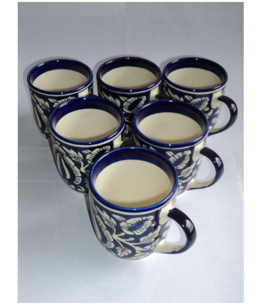 Craft Angels Ceramic Gifting Mugs Blue - Pack of 6