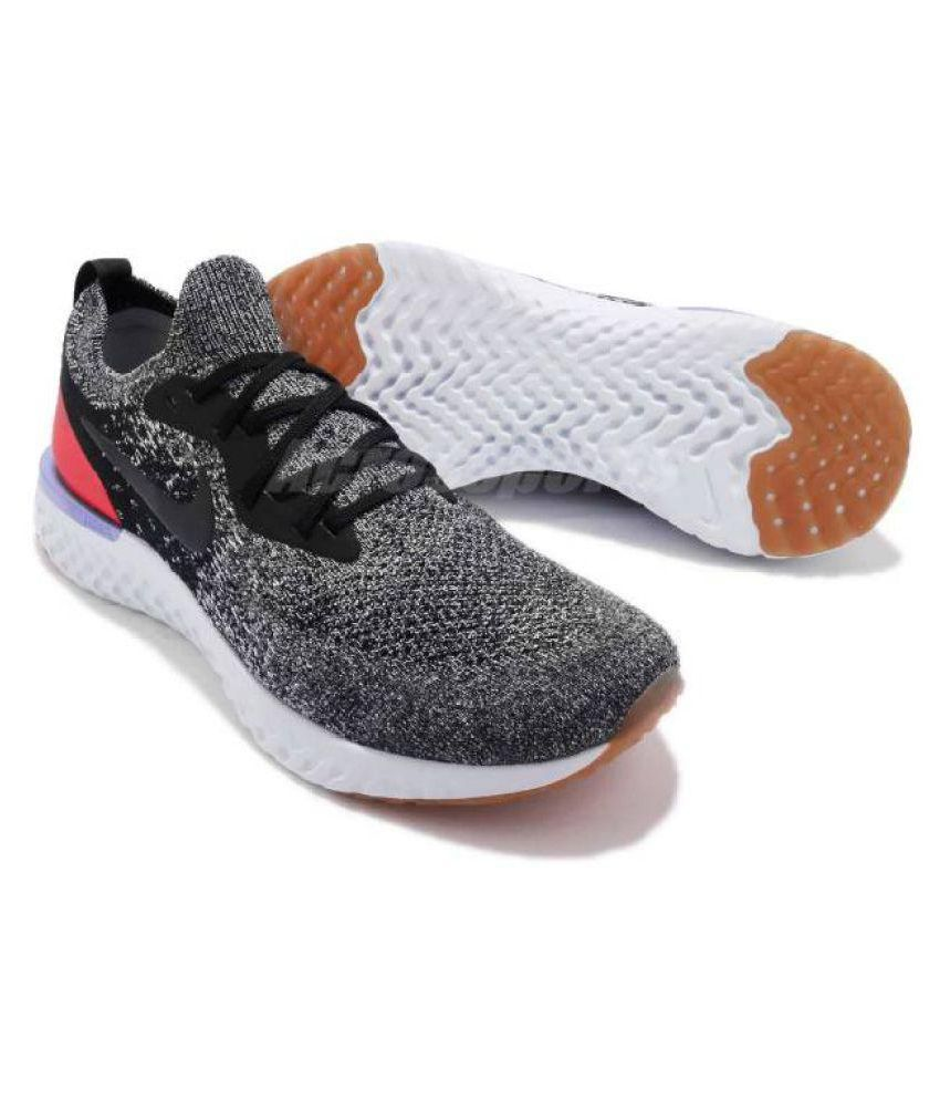 hot sales 77be9 63c6a Nike LUNAR EPIC REACT Black Running Shoes
