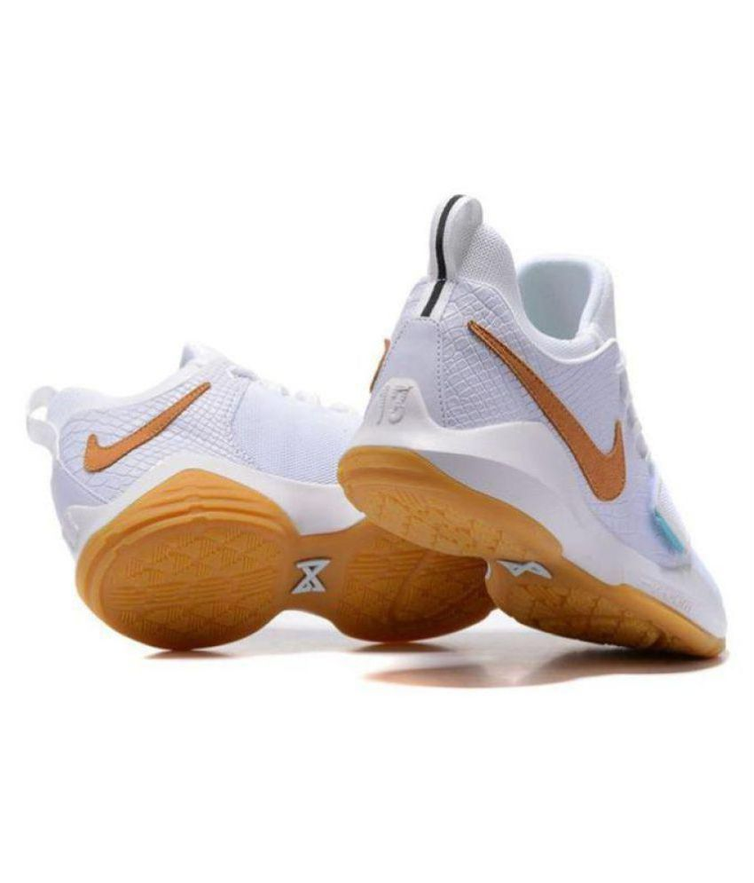 innovative design fe3a8 74c68 Nike PG 1 PAUL GEORGE White Basketball Shoes