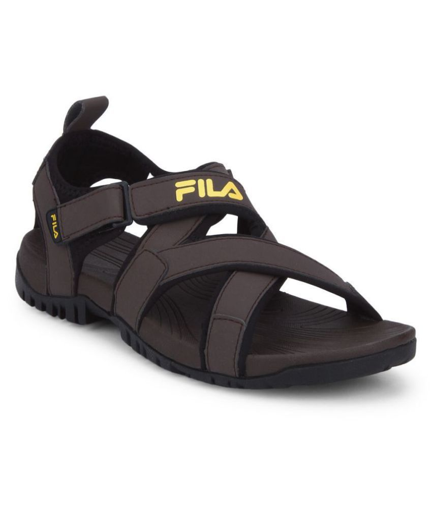 c05435f692e3 Fila PACIFIC II Brown Mesh Floater Sandals - Buy Fila PACIFIC II Brown Mesh  Floater Sandals Online at Best Prices in India on Snapdeal