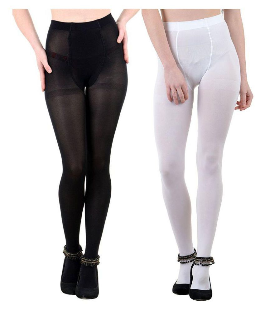d99934f9c67 Golden Girl Opaque Black   White Opaque Tights Pantyhose Stockings  Buy  Online at Low Price in India - Snapdeal