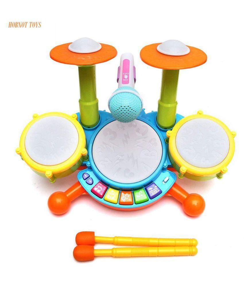 yatri  Dynamic Fun Beats Jazz Musical Drum Set With MIC Toys Children