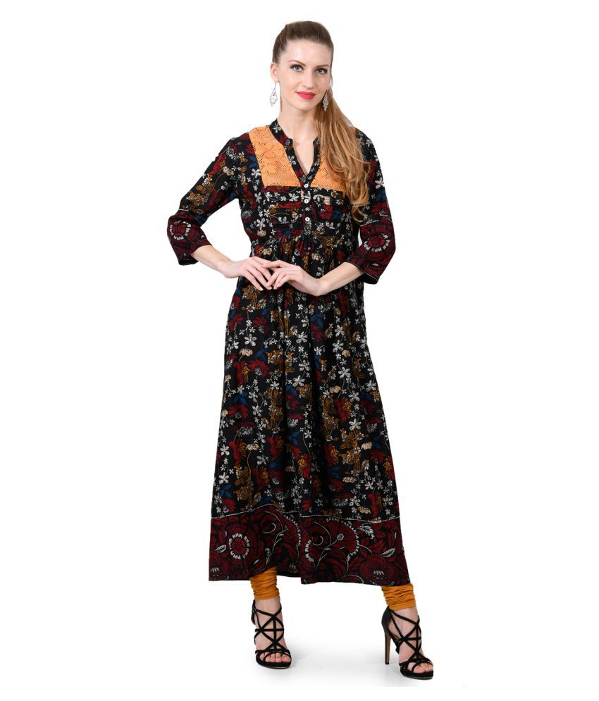 Elenora Multicoloured Rayon Anarkali Kurti