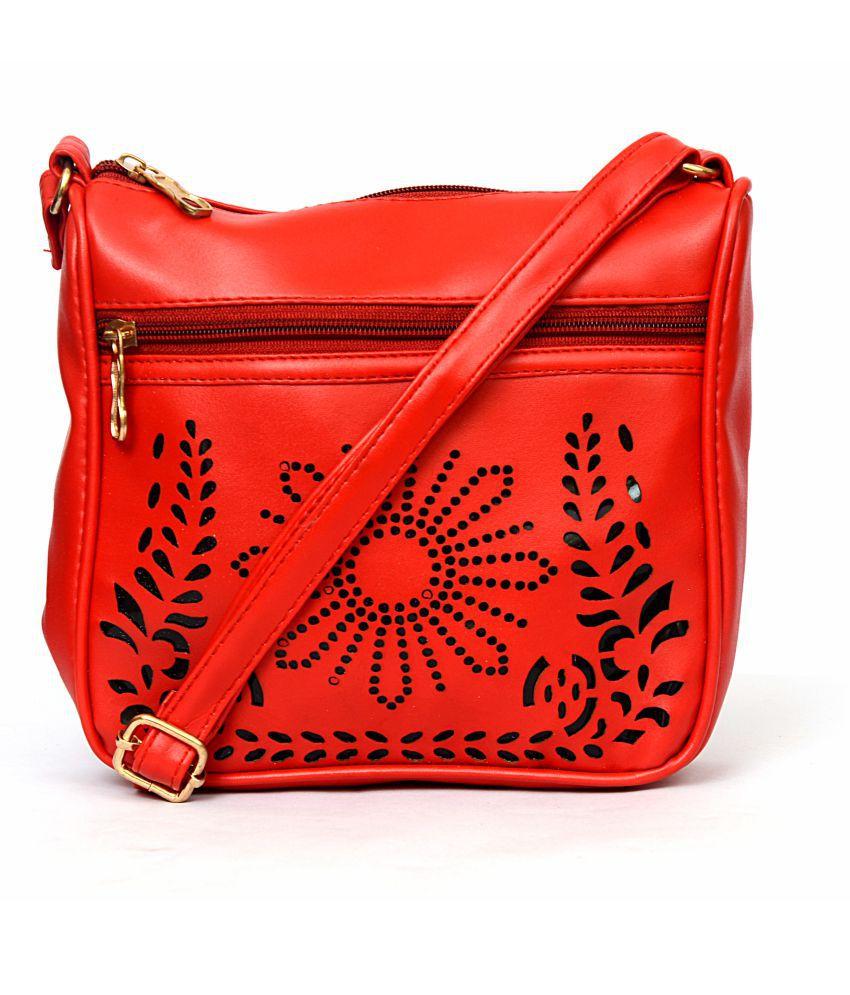RiSh Red P.U. Sling Bag
