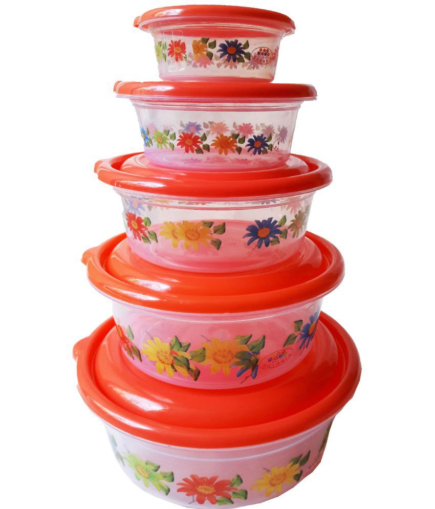GreenViji Polyproplene Food Container Set of 5