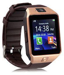 WDS Dz09 Smartwatch Suited Asus ZenFone 5 LTE - Gold Smart Watches