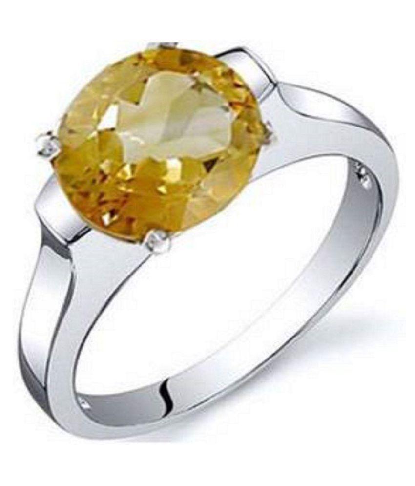 Jaipur Gemstone 18k Silver Ring