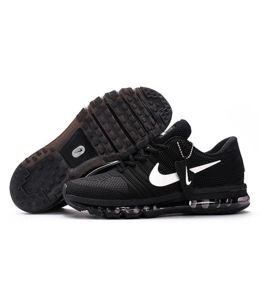 cheaper 711ae 70095 ... Nike Air Max 2017 Rubber Premium SP Black Running Shoes ...