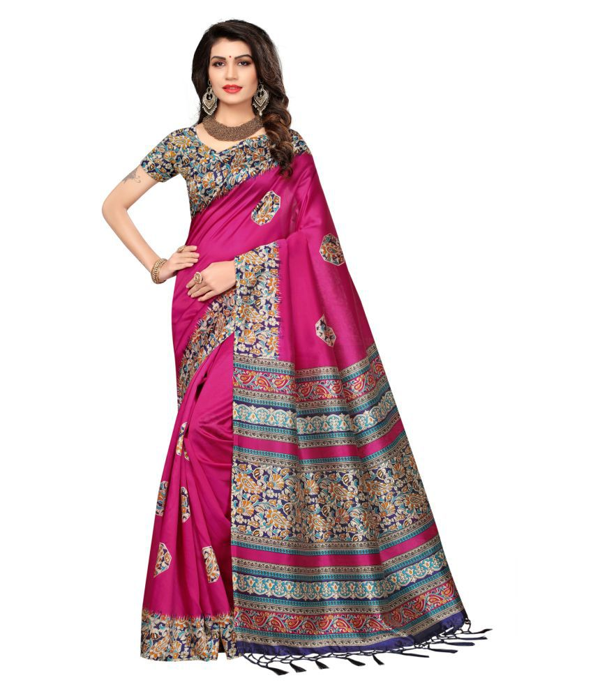2315710c8d Varni Fashion Pink and Grey Cotton Silk Saree - Buy Varni Fashion Pink and  Grey Cotton Silk Saree Online at Low Price - Snapdeal.com