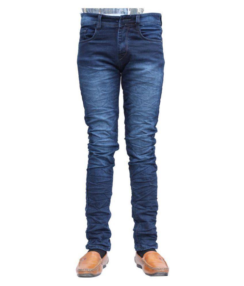 vertices Blue Regular Fit Jeans