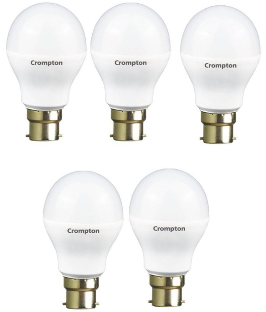 Crompton 7W LED Bulbs Cool Day Light   Pack of 5