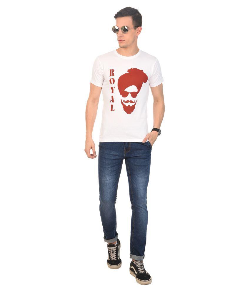 Destiny Fashion Point White Half Sleeve T-Shirt Pack of 1
