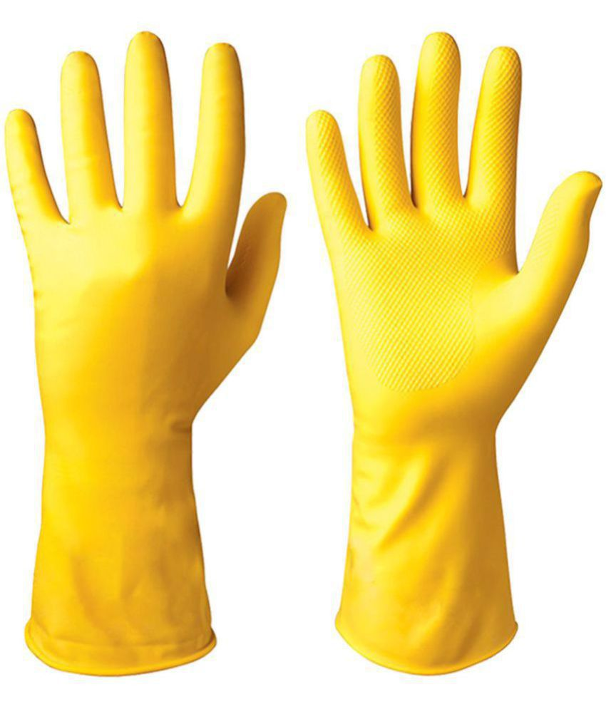 Healthgenie Latex Medium Cleaning Glove 1 Pair of Gloves