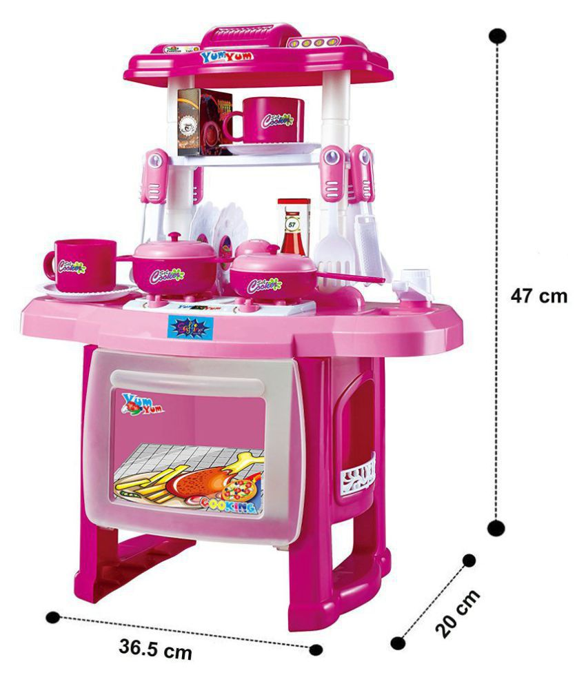 Webby kids kitchen set children kitchen toys large kitchen cooking simulation model play toy for girl